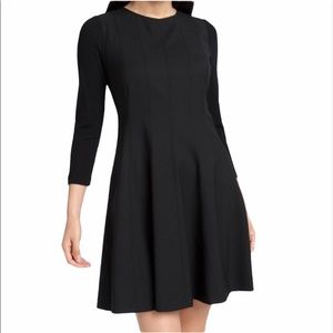 Theory | Elmyra Tailor Wool Stretch Dress Black